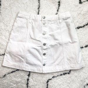 A&F White Denim Mini Skirt